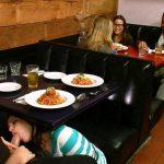 Pipe en scrède au restaurant