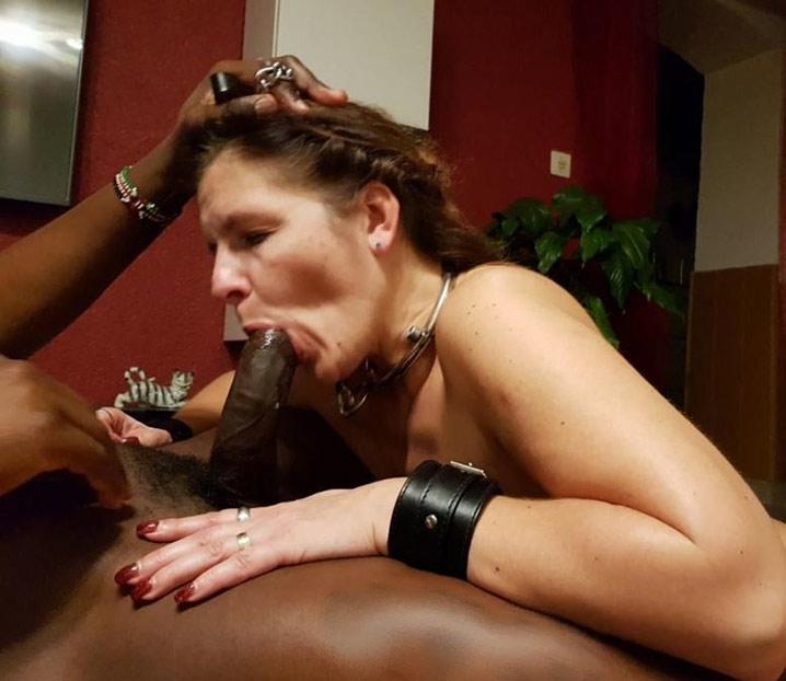 Marie-France chienne soumise à un black 2