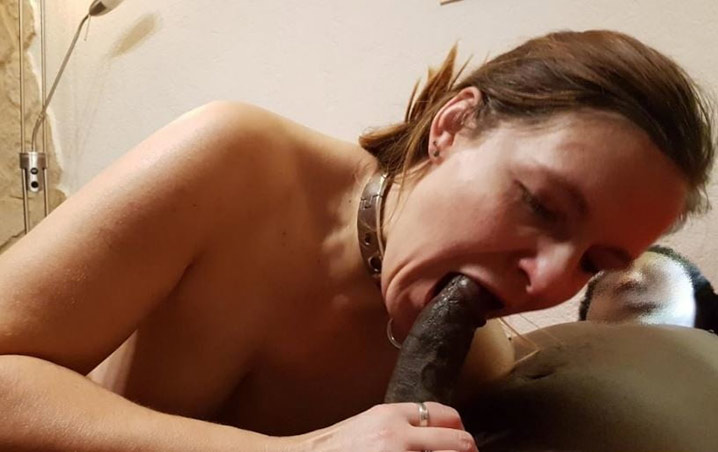 Marie-France chienne soumise à un black 29